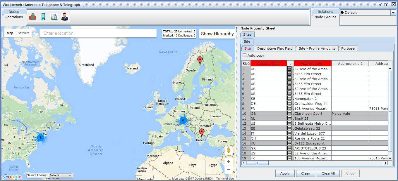 Oracle CDM Software for customer sites with Google Maps - Triniti