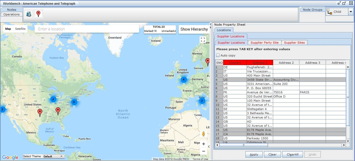 Oracle EBS Supplier Locations in Google Maps